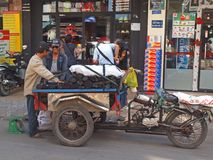 Charcoal Vendor. A man selling charcoal along the street of Ho Chi Minh City, Vietnam Stock Images
