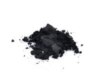 Charcoal on a white background Stock Photos