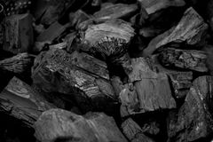 Charcoal wooden back burn texture Stock Image