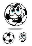 Charcter för tecknad filmfotboll- eller fotbollboll Arkivbilder