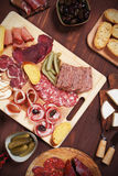 Charcuterie board with cured meat Stock Photos
