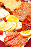 Charcuterie, board, food, meat, cheese, fresh, platter, cured, s Royalty Free Stock Photography