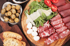 Charcuterie board Royalty Free Stock Photos