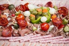 Charcuterie del aperitivo de la carne Foto de archivo
