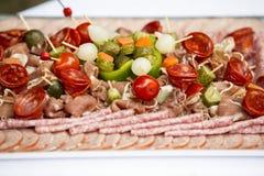 Charcuterie del aperitivo de la carne Fotografía de archivo libre de regalías