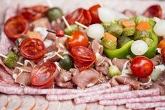 Charcuterie del aperitivo de la carne Fotografía de archivo