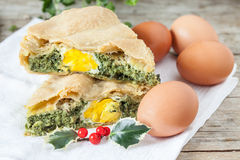 Chard Eggs Pie Stock Photography