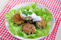 Chard Patties. Home made fried vegetable burgers with chard stock images