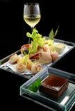Chardonnay, branche e mousse Fotografia Stock