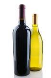 Chardonnay en Cabernet de Flessen van de Wijn royalty-vrije stock afbeeldingen