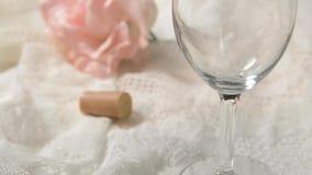 Chardonnay se renversent banque de vidéos
