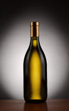Chardonnay Wine Bottle Stock Photo