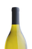Chardonnay Wine Bottle over white background Royalty Free Stock Image
