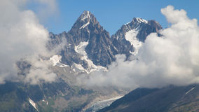 Chardonnet and Argentiere needles from Flegere Royalty Free Stock Photos