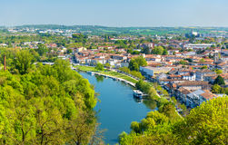 The Charente River at Angouleme, France Royalty Free Stock Images