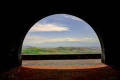 Charents Arch, view to Ararat mountain, Armenia. Charents Arch, view to Ararat mountain Armenia Royalty Free Stock Photos