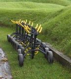 Charettes à bras de sac de golf Image libre de droits