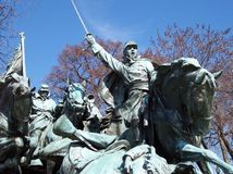 Charge. Statue on the DC Capitol grounds honouring civil war cavalrymen Stock Photos