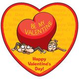Charge de l'amour Valentine illustration stock