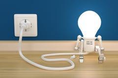 Charge de lampe de robot de personnalité de débouché électrique photo stock