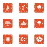 Charge energy icons set, grunge style. Charge energy icons set. Grunge set of 9 charge energy vector icons for web isolated on white background Vector Illustration