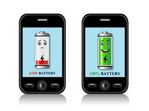 Charge mobile phone batteries Royalty Free Stock Image