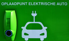 Charge point for electric cars. royalty free stock photo
