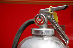 Charged. Fire Extinguisher Handle and gauge Stock Photos