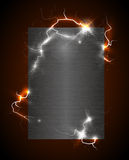 Charged metal poster Royalty Free Stock Photos