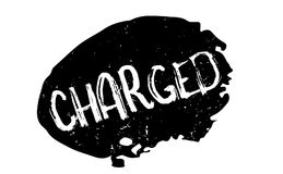 Charged rubber stamp Royalty Free Stock Photography