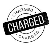Charged rubber stamp Royalty Free Stock Images