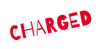 Charged rubber stamp Royalty Free Stock Photos