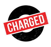 Charged rubber stamp Stock Photography