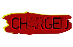 Charged sticker stamp Stock Photo