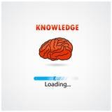 Chargement créatif de cerveau, concept d'éducation Image libre de droits