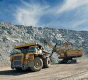 Chargement de minerai de fer Images libres de droits