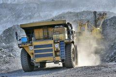 Chargement de minerai de fer Photo libre de droits