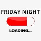 Chargement vendredi soir du signe d'illustration Photos stock