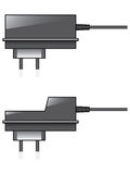 Charger. Illustration of chargers and power supplies Royalty Free Stock Image