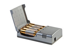 Charger for accumulators isolated. Royalty Free Stock Photography