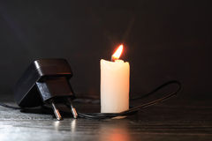 Free Charger And Candle Stock Photography - 68358352