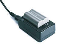 Charger with battery Stock Photos