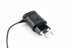 Charger for mobile phone. On a white background Royalty Free Stock Image