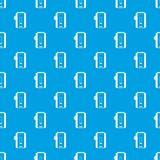 Charger pattern seamless blue Stock Photos