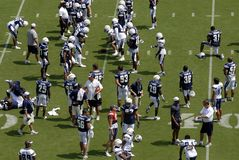 Chargers Practice. Many players of the San Diego Chargers during a practice at Qualcomm Stadium in 2007 royalty free stock photo
