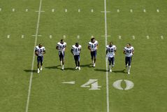 Chargers Practice. Many players of the San Diego Chargers during a practice at Qualcomm Stadium in 2007 stock images