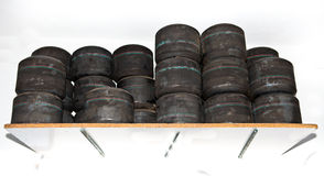 Charges des roues de karts photographie stock