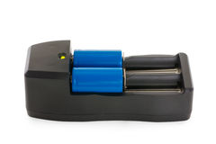 Chargeur avec deux batteries de Li-ion Photo stock