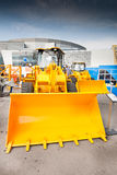 Chargeur de frontal diesel jaune images libres de droits