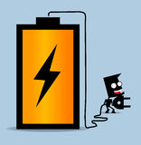 Charging Battery. Simple Vector illustration Stock Images